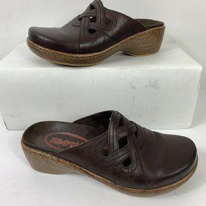 Klogs Clogs Leather Slip Resistant Shoes Wm Sz 8